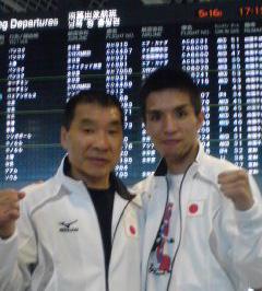 (左)花形会長 (右)木村章司